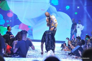 PHOTO: Davido Prostrates To 2face On Stage