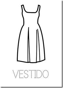VESTIDO ropa dibujos colorear pintaryjugar  (3)