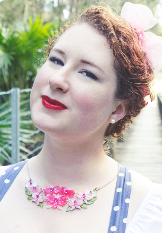 Pretty kitsch statement necklace ~ the Erstwilder Cooktown Glory Necklace | Lavender & Twill