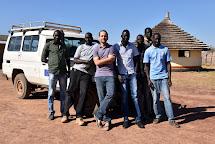 Tým Člověka v tísni v Jižním Súdánu. Jakub Smutný. (Foto: Tereza Hronová, ČvT)