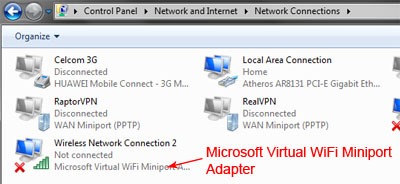 [Image: Microsoft Virtual WiFi Miniport Adapter]