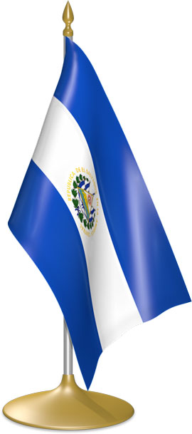 Salvadoran table flags - desk flags