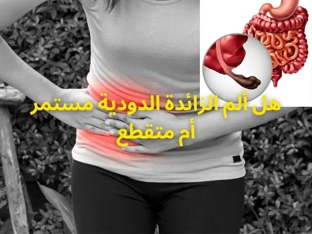 هل ألم الزائدة الدودية مستمر أم متقطع