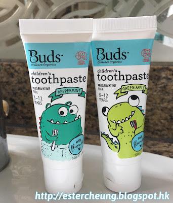 【兒童口腔護理】味道清甜。天然有機 ♥ Buds Organics 有機小童含氟牙膏 ... ...
