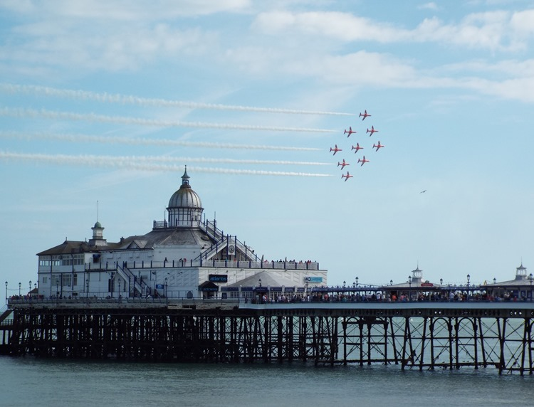 RAF Red Arrows over Eastbourne Pier