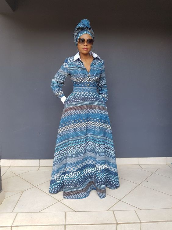 AFRICAN PRINT DRESSES FASHION FOR LADIES 2020 1