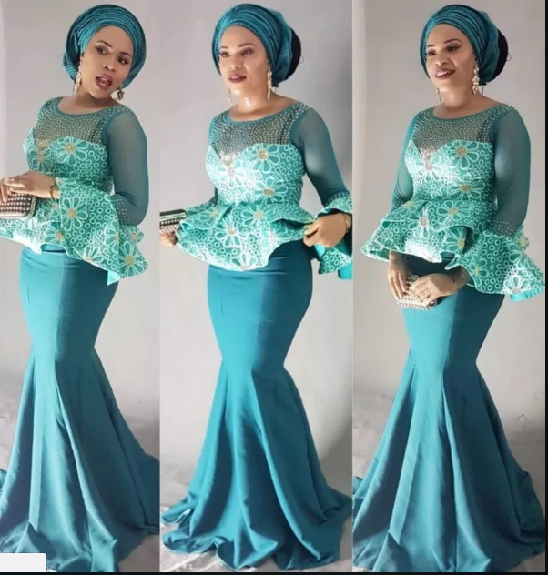 Latest African Dresses Long Prom Sleeve 2019 3