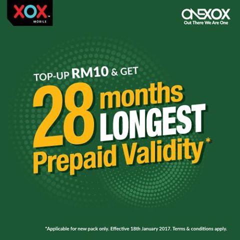 ONEXOX Tempoh Aktif Terpanjang 28 Bulan