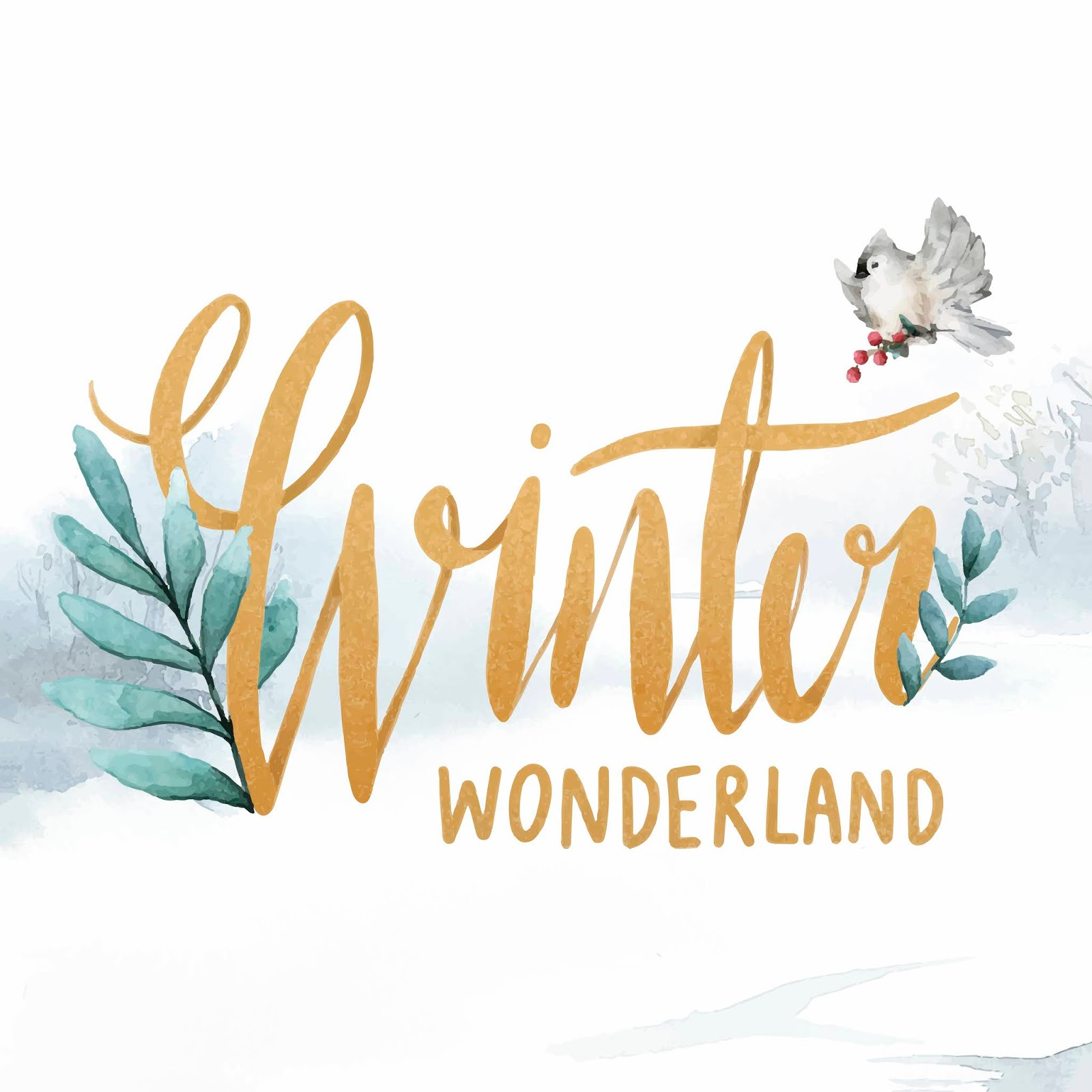 Winter Wonderland Watercolor Typography Vector (1) Free Download Vector CDR, AI, EPS and PNG Formats