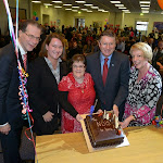 Mary at the State NDIS launch with the Premier and Chair of Disability Care Board