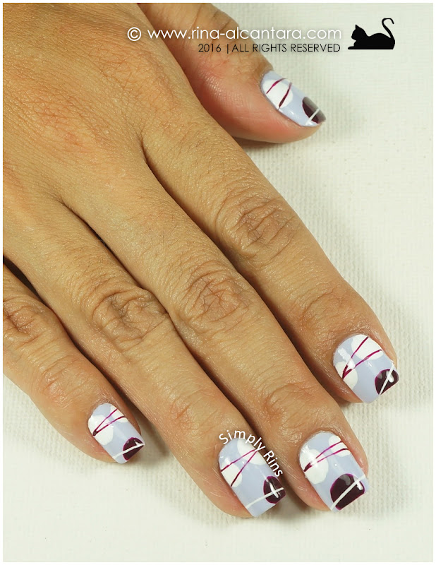 Freehand Abstract Nail Art by Simply Rins
