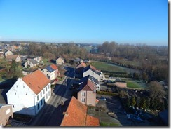 Foto genomen van uit de torenspits van Korbeek-Dijle door Pascal Huygh