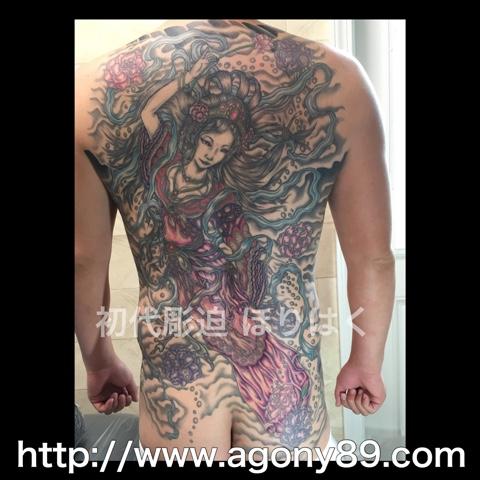 刺青、タトゥー、刺青デザイン、タトゥーデザイン、tattoo、tattoo画像、刺青画像、タトゥー画像、刺青デザイン画像、タトゥーデザイン画像、背中一面、和彫り、刺青 天女、羽衣天女、天女散花、烏彫り、暈し、カラー、千葉 刺青、千葉 タトゥー、千葉県 刺青、千葉県 タトゥー、柏 刺青、柏 タトゥー、松戸 刺青、松戸 タトゥー、五香 刺青、五香 タトゥー、タトゥースタジオ 千葉、タトゥースタジオ 千葉県、tattoo studio、タトゥースタジオ、 アゴニー アンド エクスタシー、初代彫迫、ほりはく、彫迫ブログ、ほりはく日記、刺青 彫迫、彫師、刺青師、http://horihaku.blogspot.com