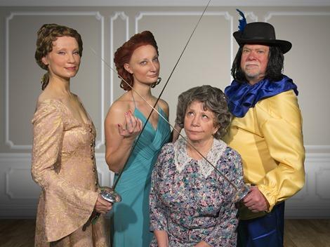 Maureen Hackett (Charlotte Hay), Angela Fasanella, (Rosalind), Linda Cunningham (Ethel), John C. Pinto (George Hay)