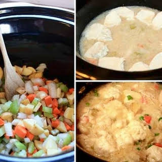 Easy Slow Cooker Chicken & Dumplings.