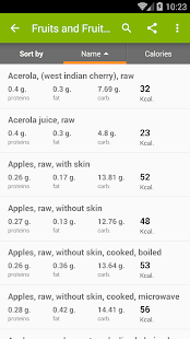 Calories in food- screenshot thumbnail