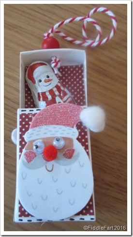 Matchbox Santa Christmas Tree Decoration