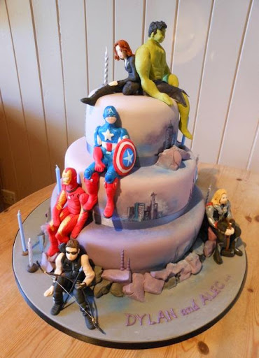 Wedding Cake And Marvel Best avengers birthday cakes ideas and