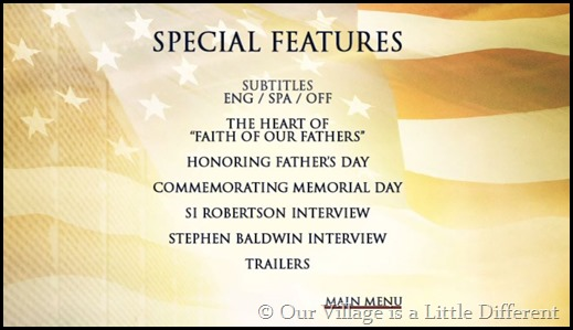 Faith of Our Fathers Special Features
