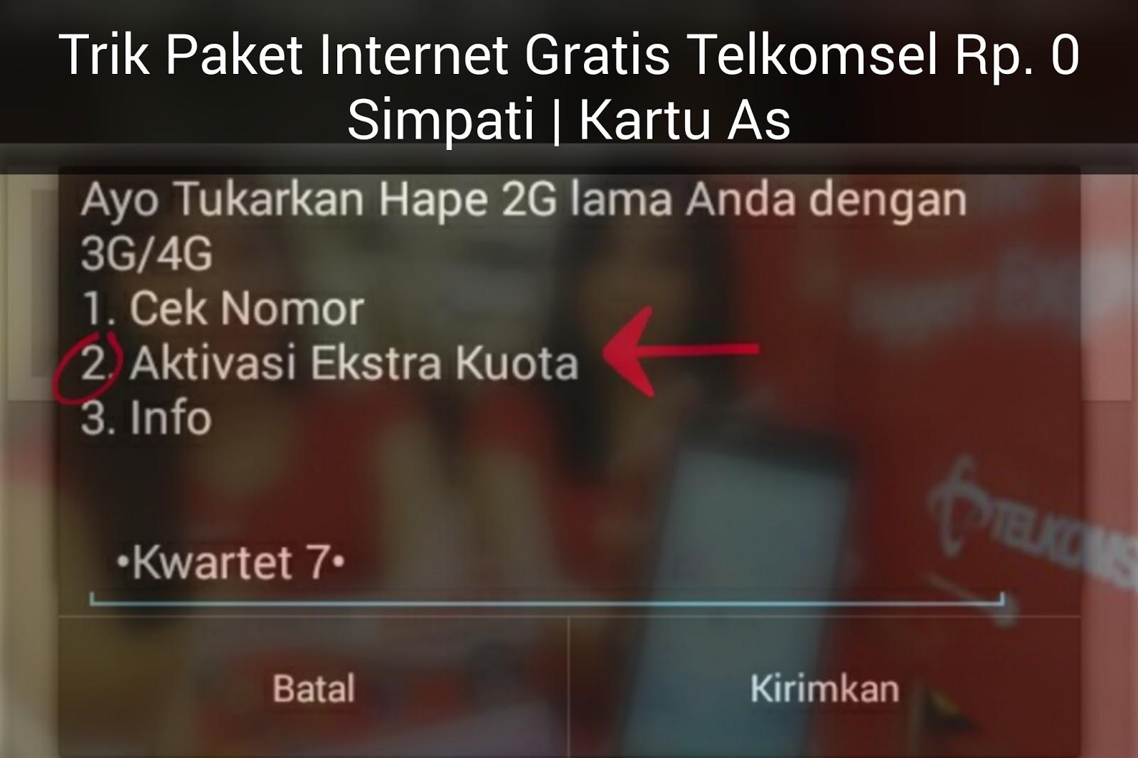 Ssstt Ini Kode Daftar Paket Internet Gratis Rp 0 Telkomsel