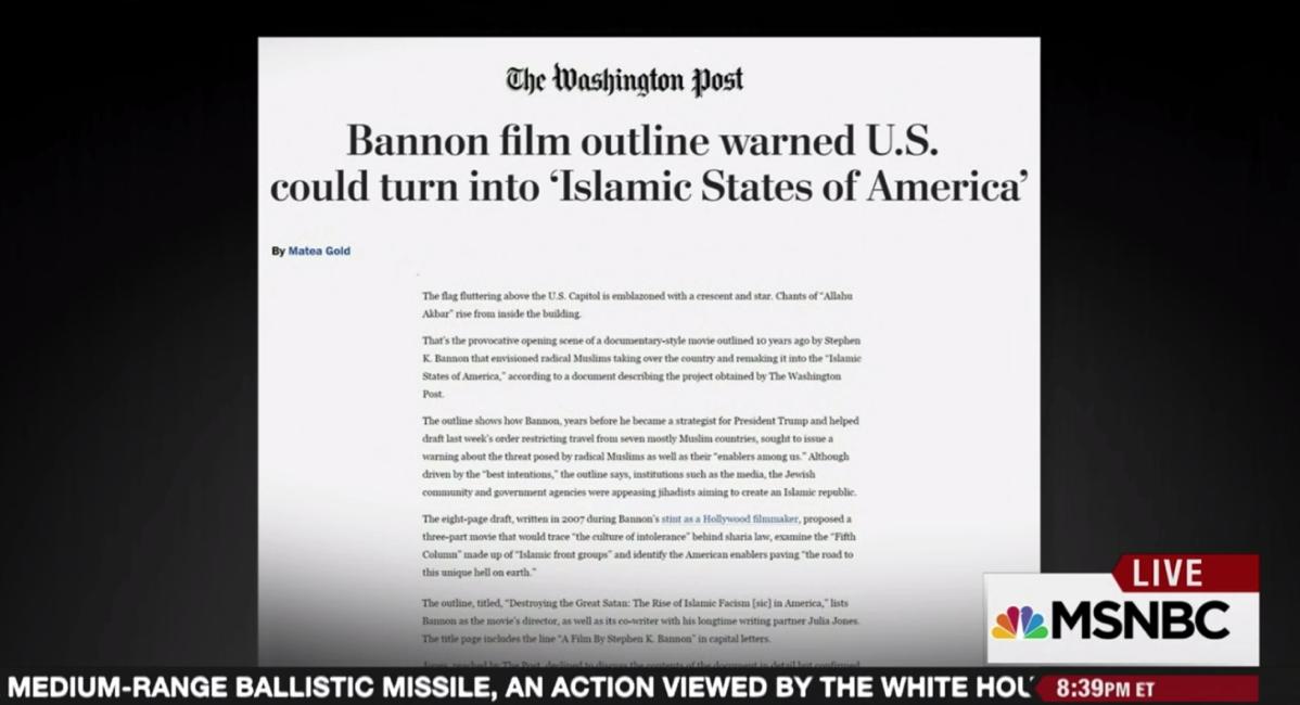 Bannon Islamic State of America
