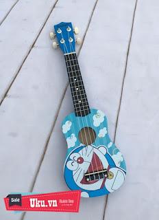 đàn ukulele hình doremon