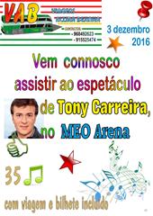 Tony Carreira - MEO Arena - 3.12.16