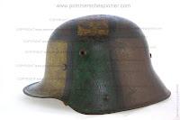 German Helmet with Camouflage