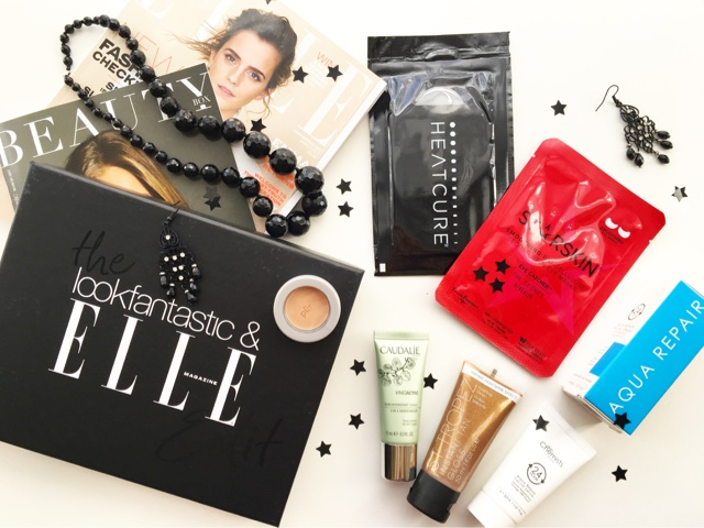 look fantastic beauty box review, march look fantastic box elle magazine collaboration, lfbeautybox review
