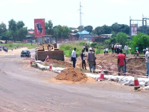 D but des travaux de r fection du tron on de la nationale for Route nationale 104