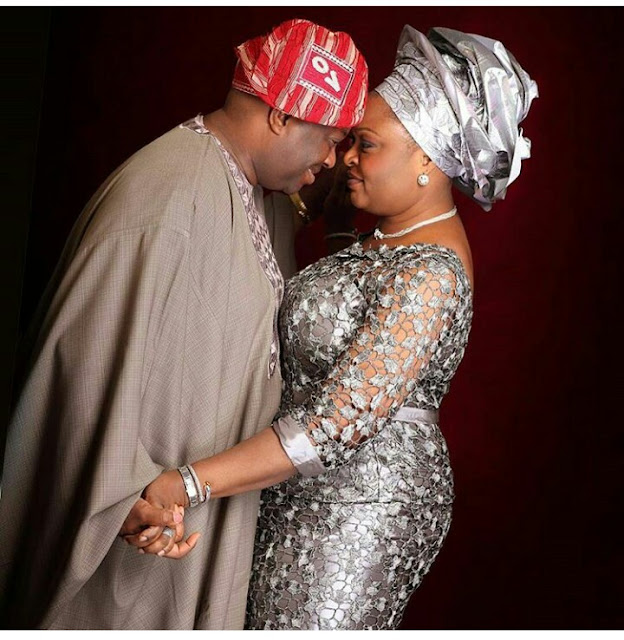 Dele Momodu  and wife in a Romantic picture