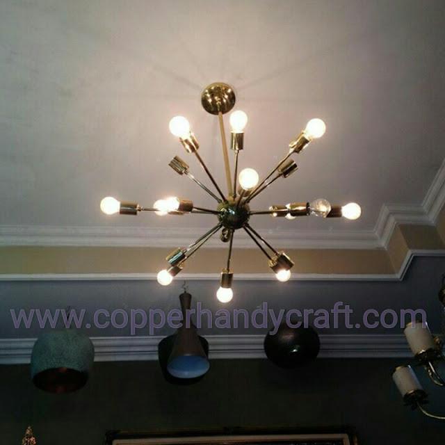 kerajinan-Lampu-gantung-tembaga-minimalis