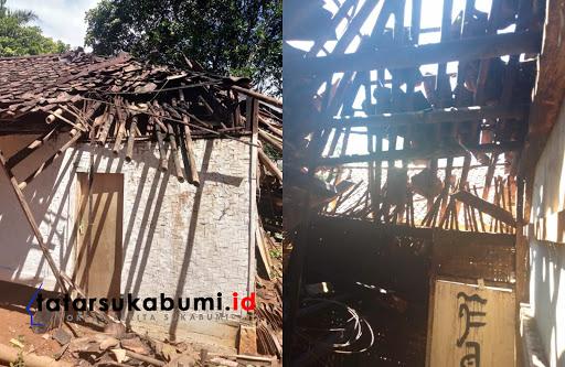 Pohon Tumbang Timpa Rumah di Purabaya Sukabumi