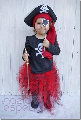 disfraz de pirata con tutu