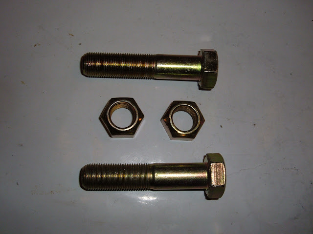 Track Bar bushing bolts, grade 8 and self locking nuts. 12.00 for set of  2.