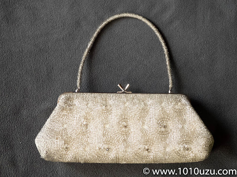 ユーズドのレトロなビーズバッグ