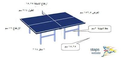 القوانين الرسمية للعبة تنس tennis الطاولة