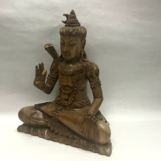 Carved Wood Shiva Statue