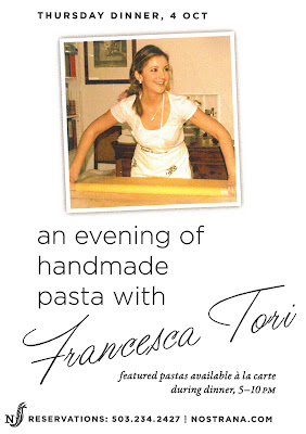 Handmade Pasta at Nostrana, by Francesca Tori