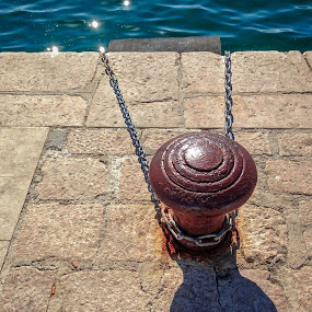 Standing Firm by Goran Grudić - Artistic Objects Other Objects ( novalja, pag, chains, croatia, summer )