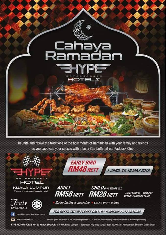 Berbuka Puasa Di Hype Motorsports Hotel, Kuala Lumpur