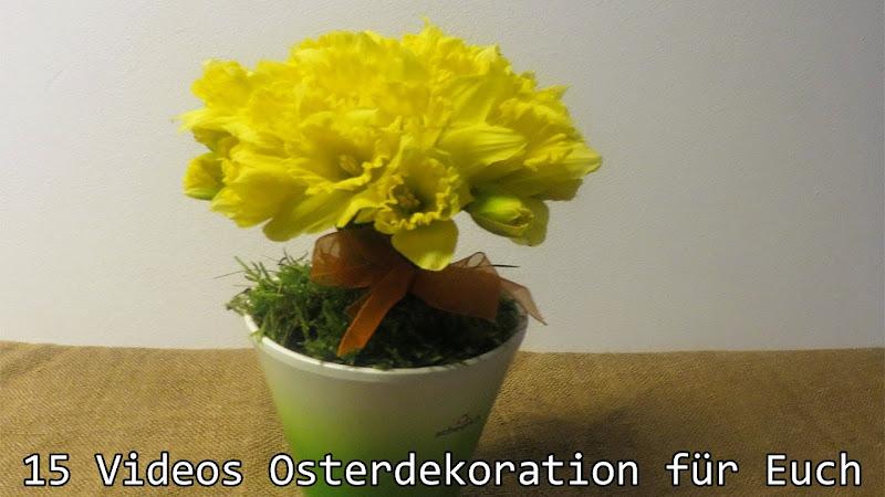 Stimmungsvolle Deko für den Osterbrunch im Kerzenschein