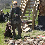 "April 2008 - a hunter with plenty of ""birds"" @ Anderson Creek Hunting Preserve"