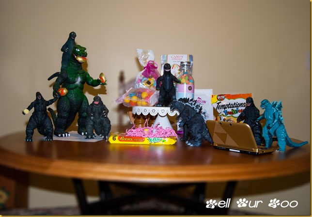 Godzilla Easter Party with background blur (BFZ)