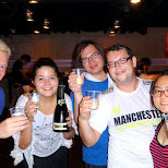 cheersing with my para-peeps; Jasmine, Andy, Max & Hitomi in Roppongi, Tokyo, Japan