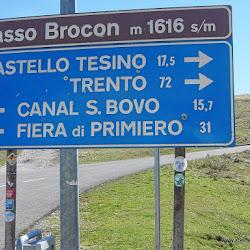 Motorrad Pass Passo Broccon