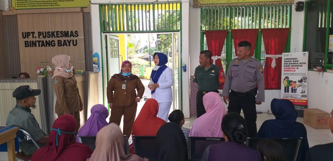 Kapospol Bintang Bayu Bersama Puskesmas Bintang Bayu Sosialisai Pencegahan Virus Corona