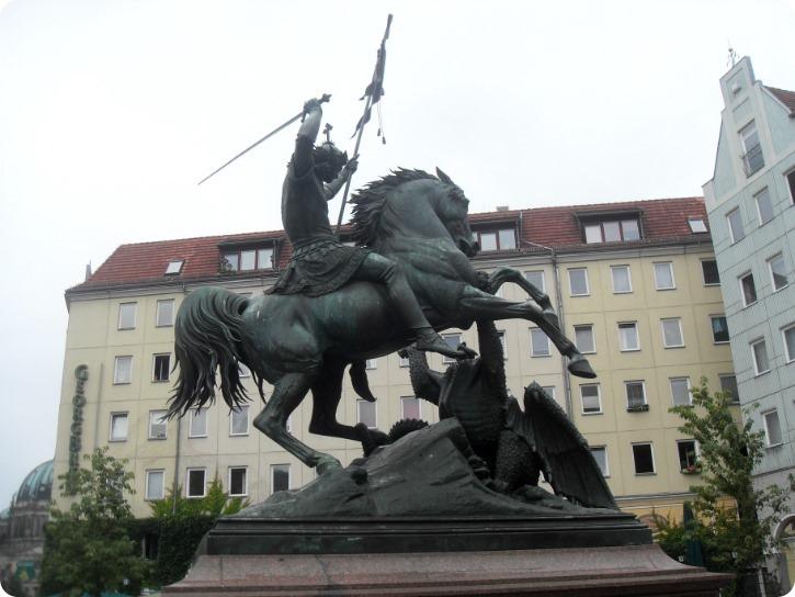 Skt Georg og dragen - Nikolai Viertel, Berlin