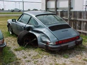 Abandoned Porsche 911 Carrera