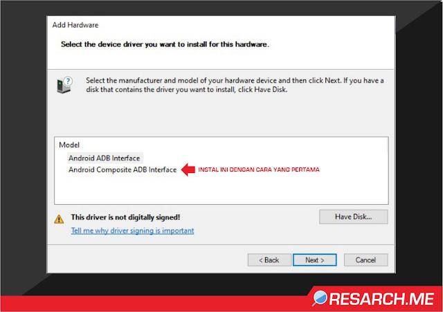 Install Driver Xiaomi Android Composite ADB Interface  Secara Manual
